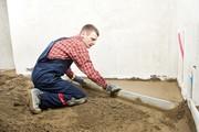 Стяжка пола цементно-песчаная. Профессионально. Собственный материал